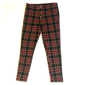 Zara  super skinny plaid pants size L